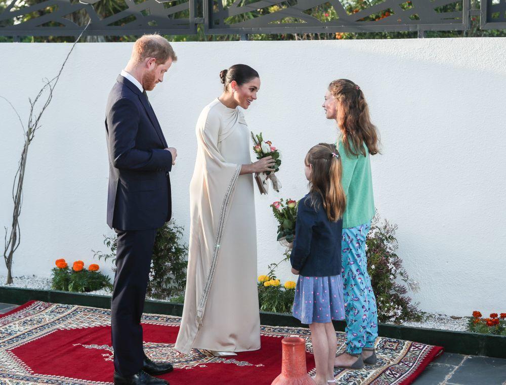 Los duques de Sussex ayer en Marruecos.