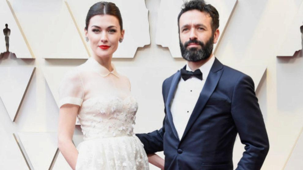 Marta Nieto y Rodrigo Sorogoyen en la alfombra roja de los Oscar 2019.