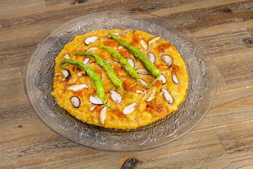 Tortilla esparragada, de Zalamero