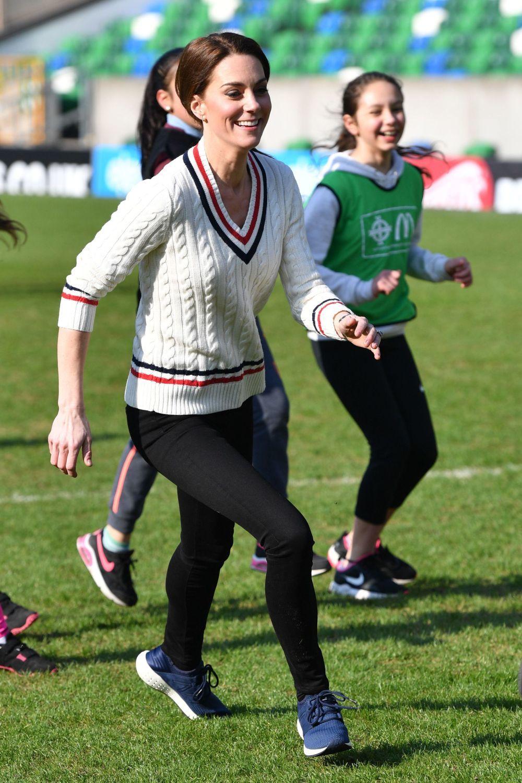 Kate Middleton con sneakers.