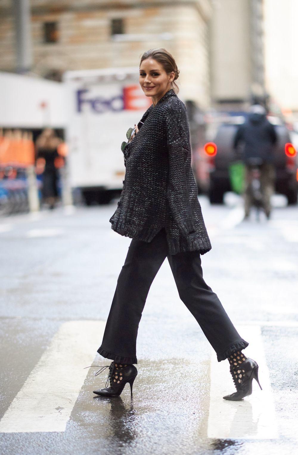 Olivia Palermo en el street style de Nueva York con altísimos...