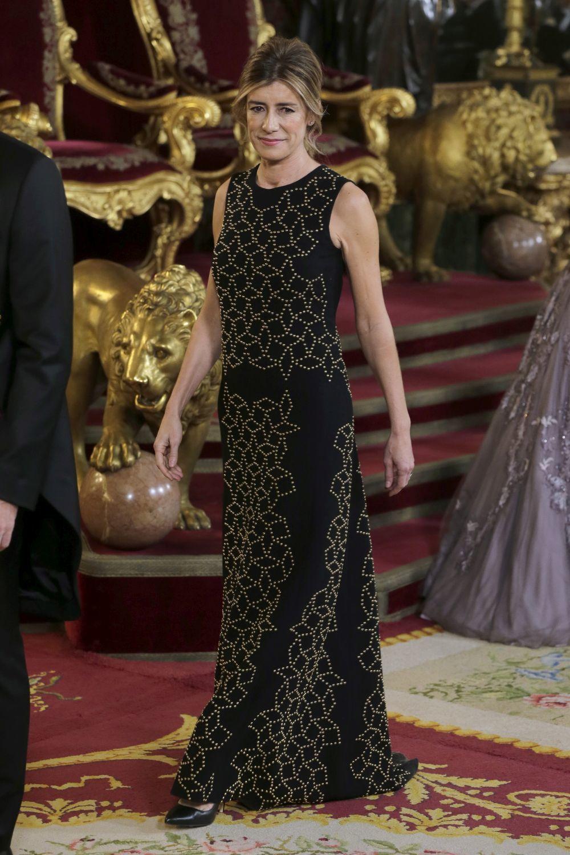 Begoña Gómez con un vestido negro.