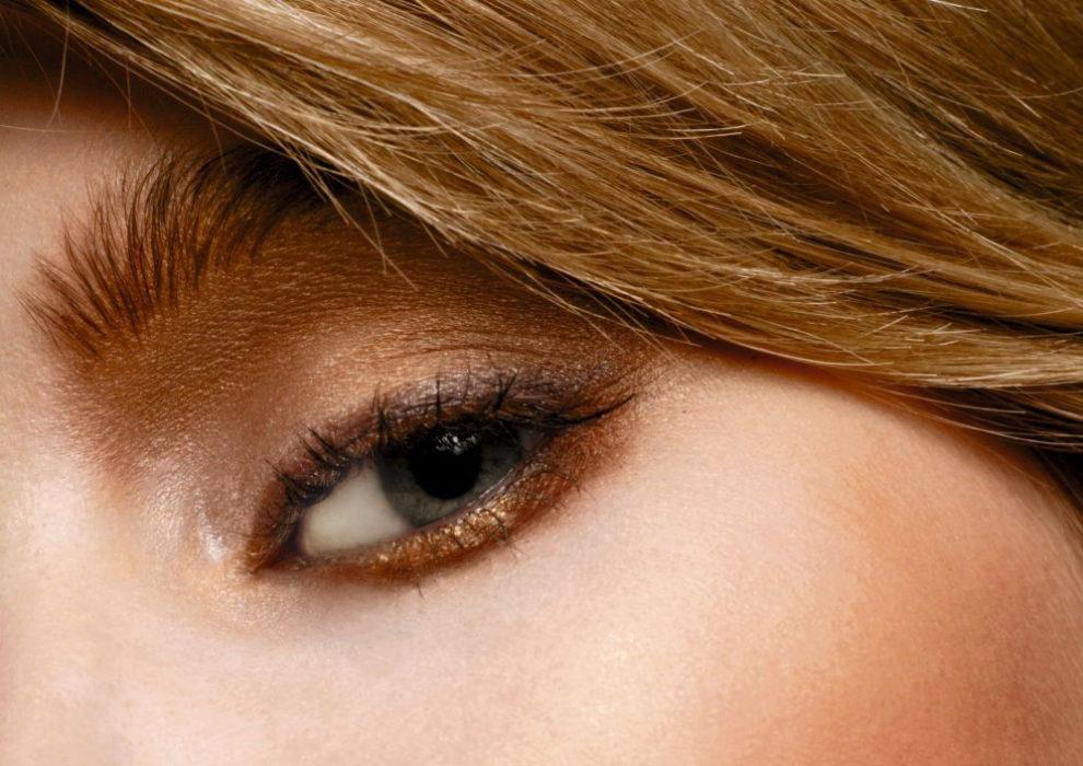 Maquillaje de ojos en tonos cálidos