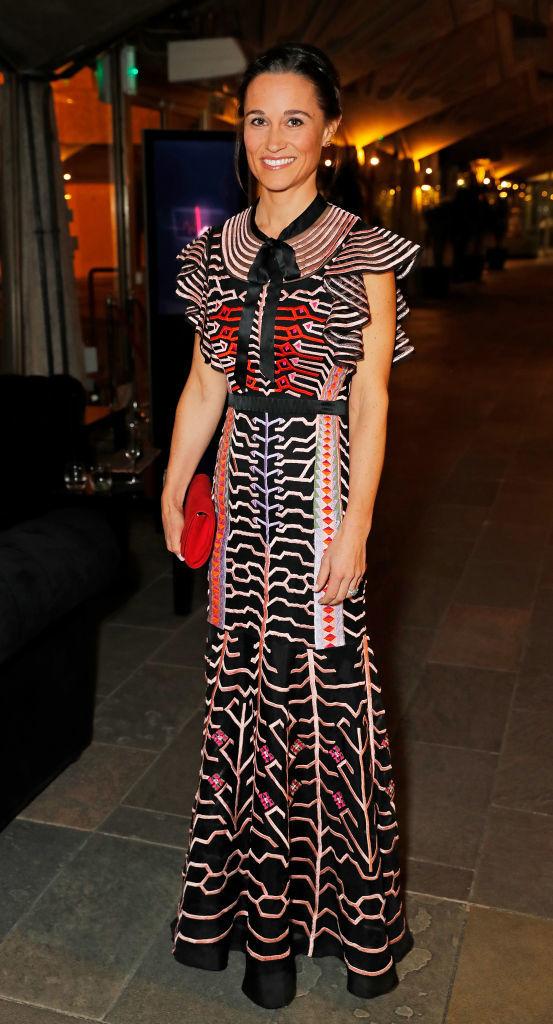 "Pippa Middleton con el ""Canopy Evening Dress"" de Temperley London."