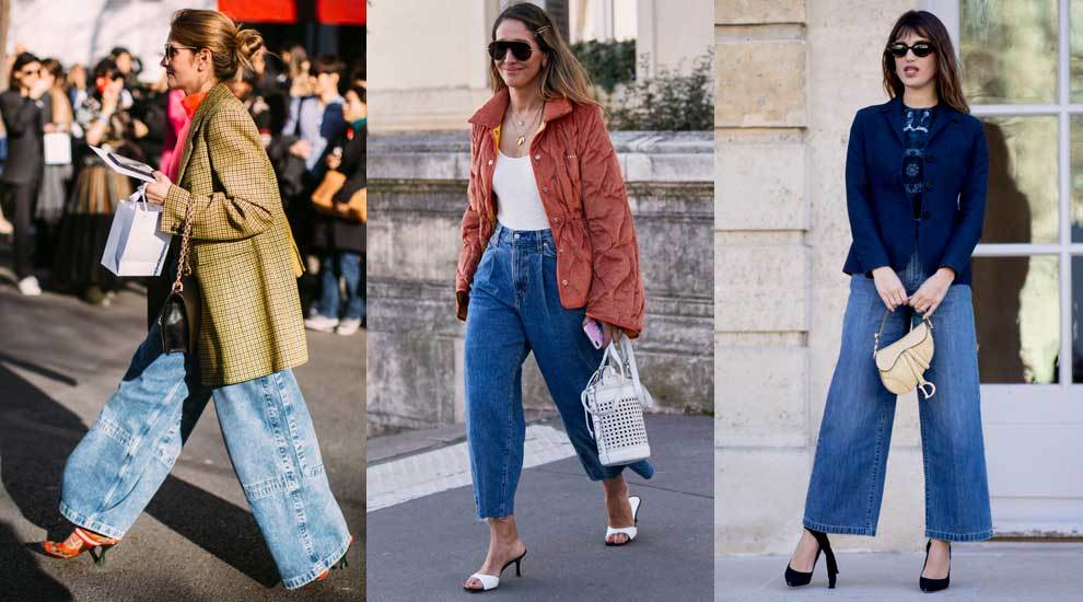 Los jeans se llevan wide leg.