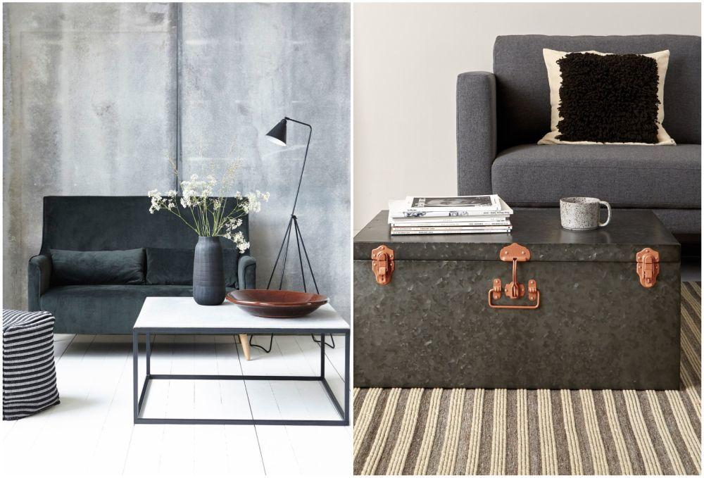 Madera, hormigón, terciopelo y metal, materiales estrella del estilo...