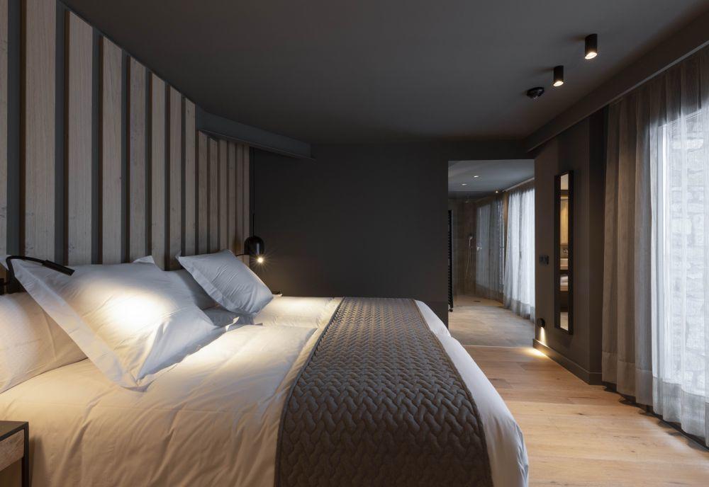 Una de las habitaciones del Hotel Naudi.