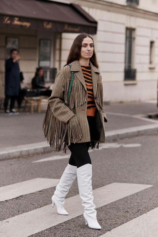Erika Boldrin con chaqueta de Miu Miu.
