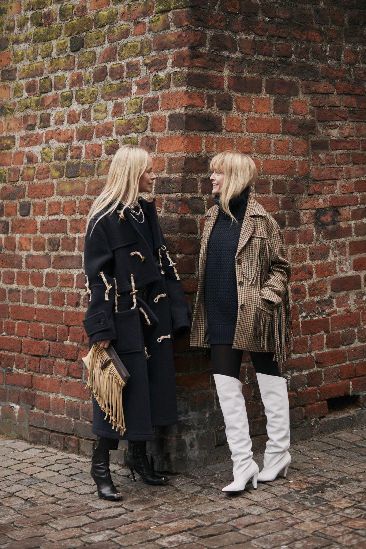 Dos invitadas a los desfiles de Copenhague.