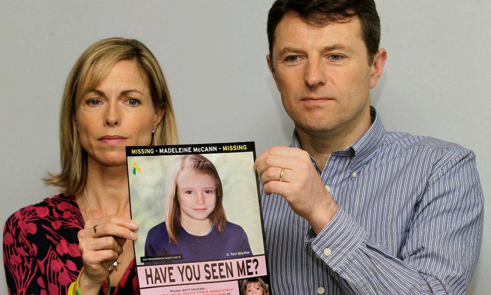 Kate y Gerry McCann, los padres de Madeleine McCann.