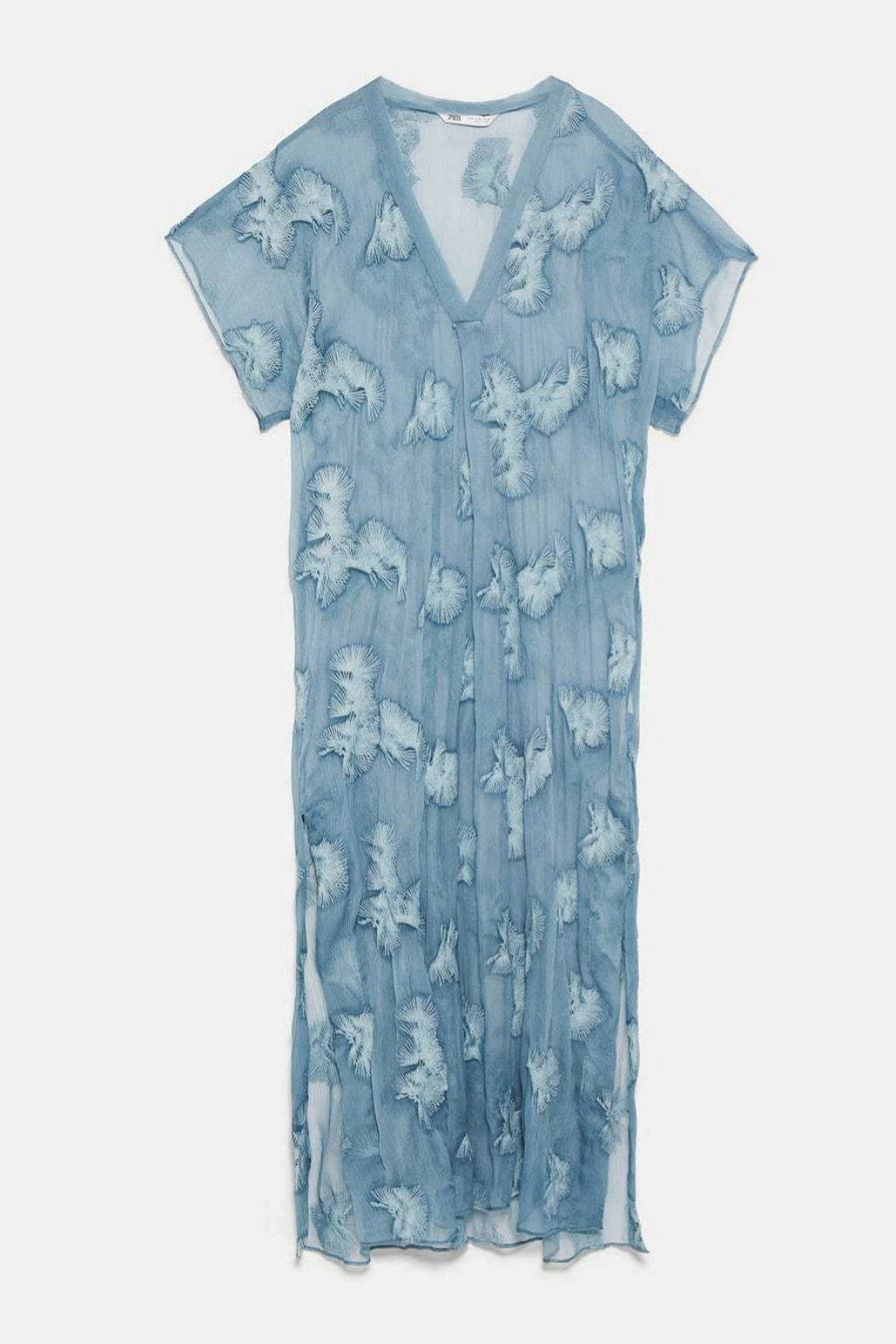 Vestido túnica con transparencias de inspiración 'boho chic'