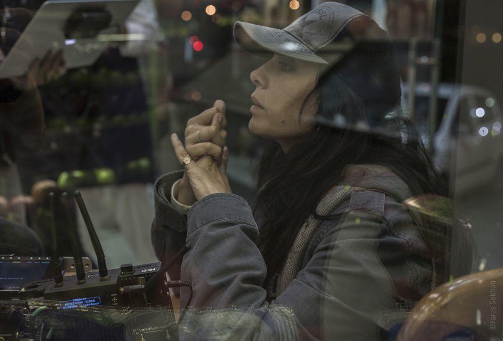 La directora Nadie Labaki en un momento del rodaje de Cafarnaúm.