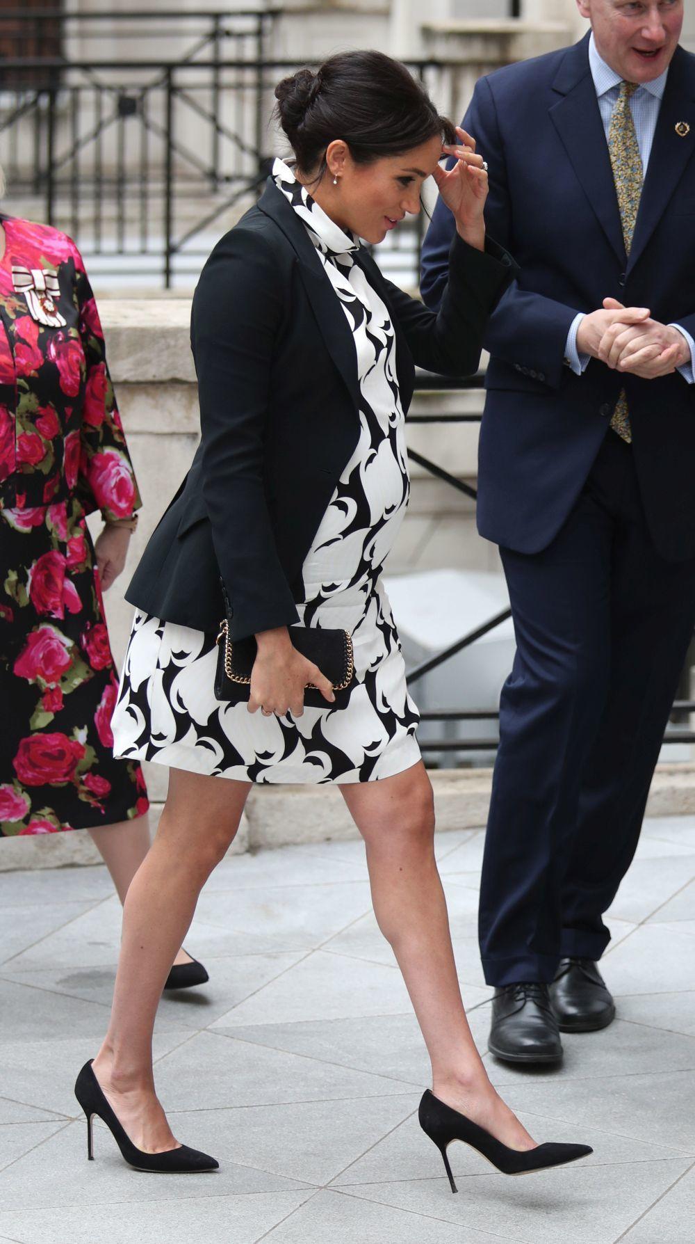 La Duquesa de Sussex durante el Día Internacional de la Mujer.