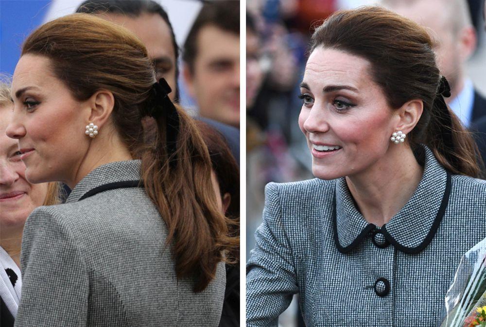 La Duquesa de Sussex adorna su coleta con un lazo.
