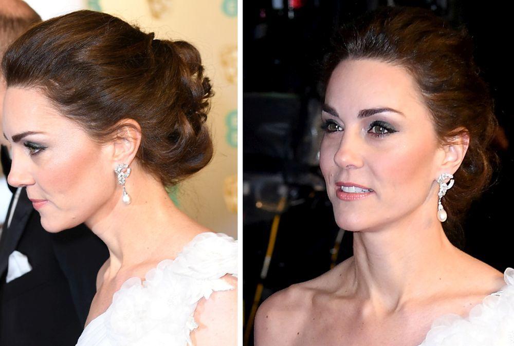 Nos encanta este moño trenzado de Kate Middleton.