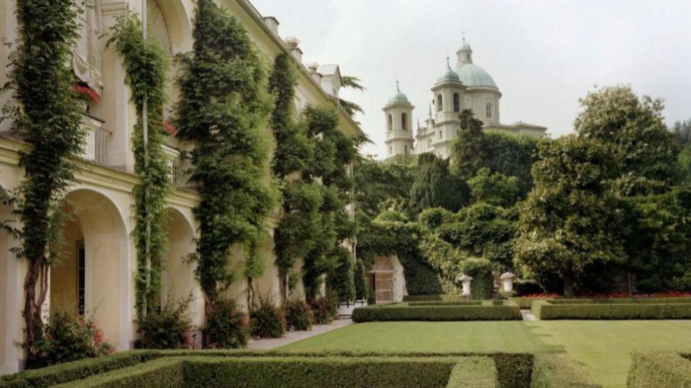 Vista exterior de Villar Perosa, la mansión de los Agnelli en Turín.