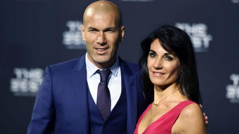 Verónique y Zinedine Zidane.