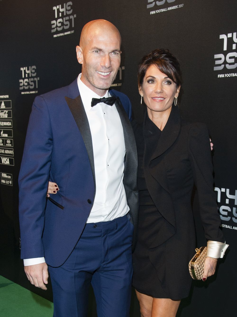 "El matrimonio Zidane en la gala ""The Best"""