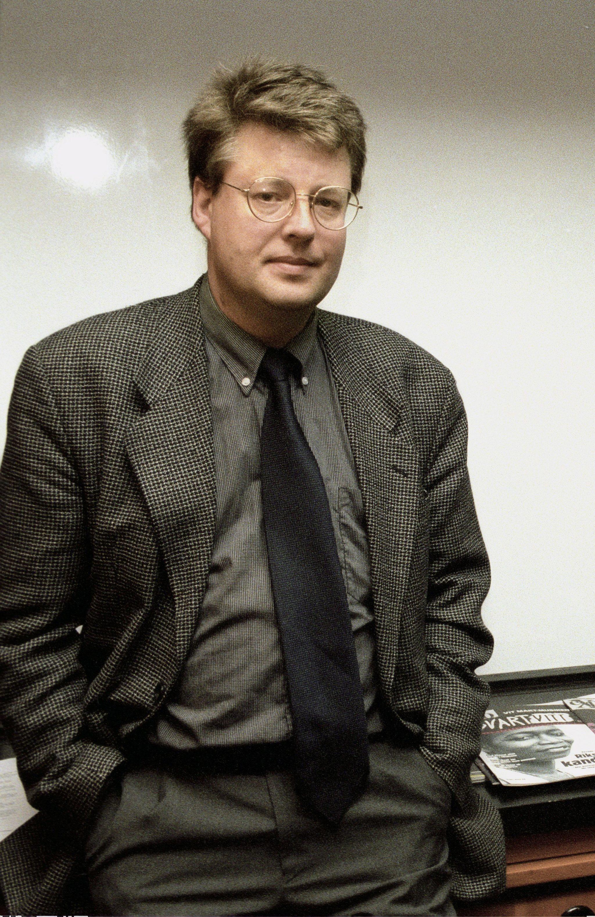 Stieg Larsson en una imagen de 1998.