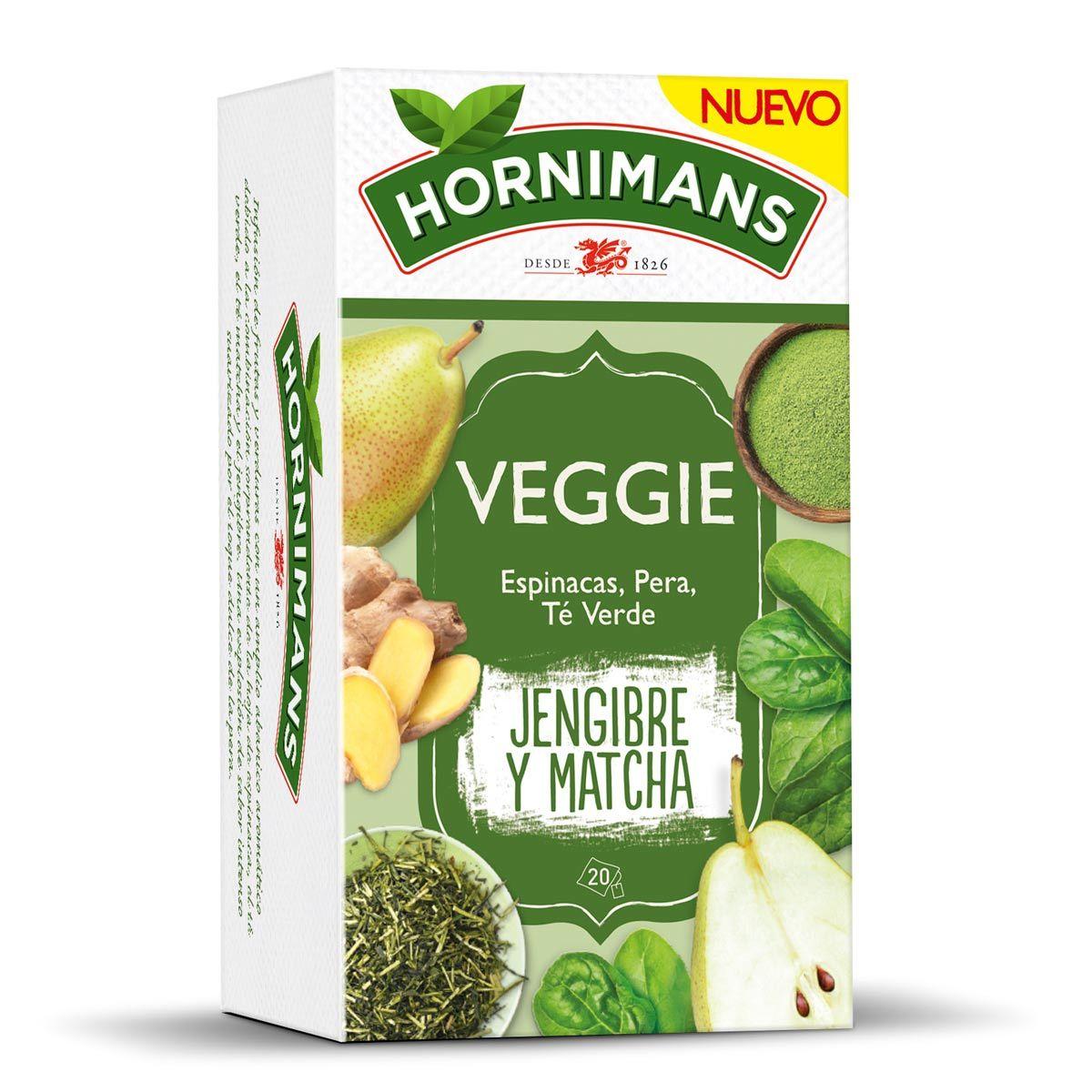 Infusión Veggie de Hornimans (2,49 euros) con espinacas, pera,...