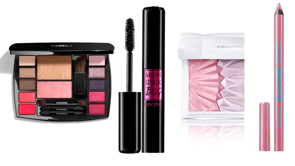 1. Paleta de sombras Travel Makeup Palette, de Chanel. 2. Máscara de...