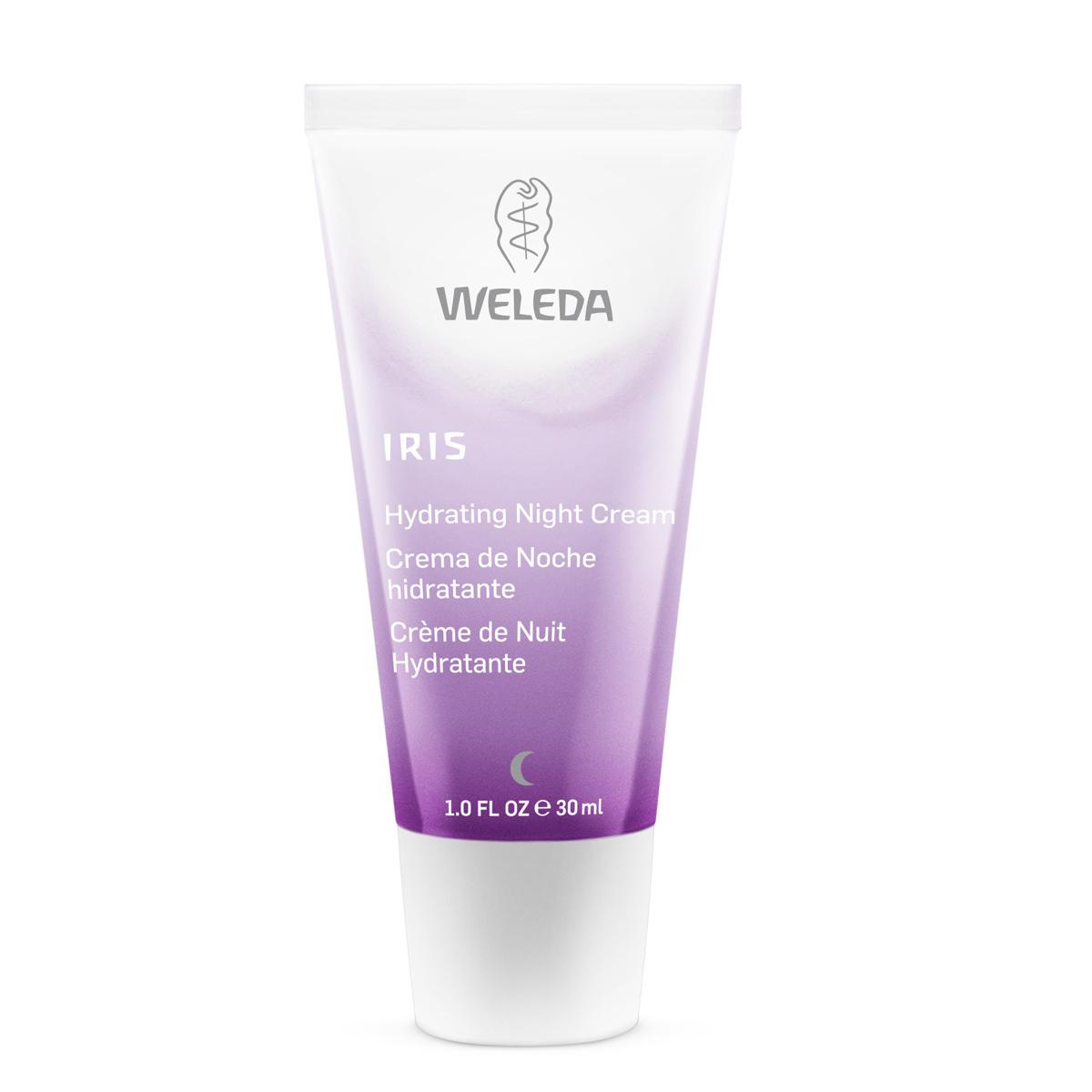 Crema de hidratante de noche con iris, de Weleda.