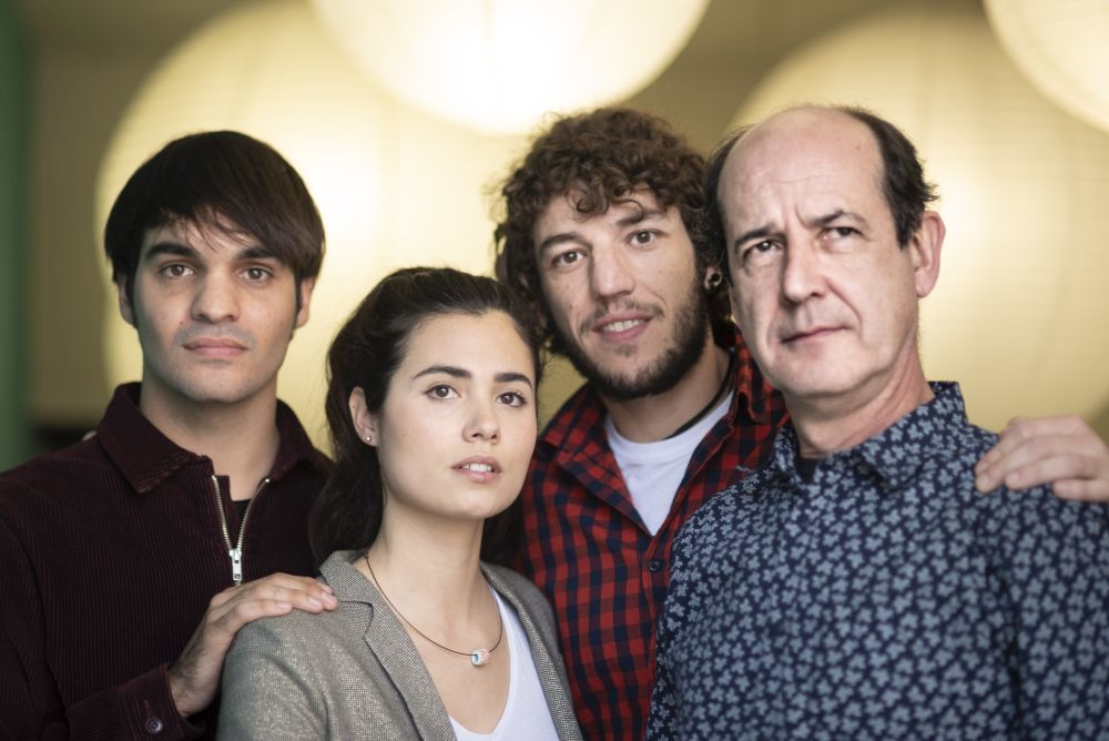 Jon Olivares, Loreto Mauleón, Eneko Sagardoy y Mikel Laskurain.