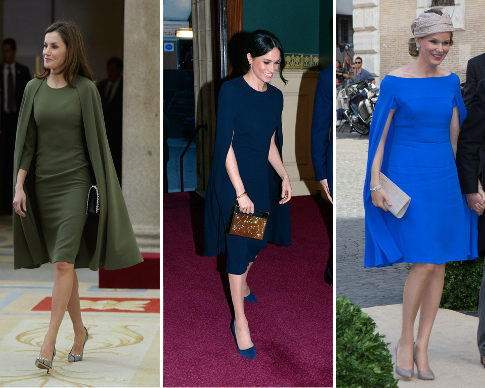 La reina Letizia, Meghan Markle y Matilde de Bélgica con vestidos...