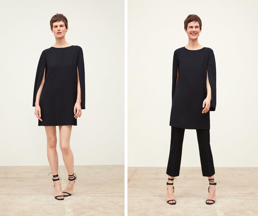 Zara y sus dos versiones para llevar su vestido-capa.