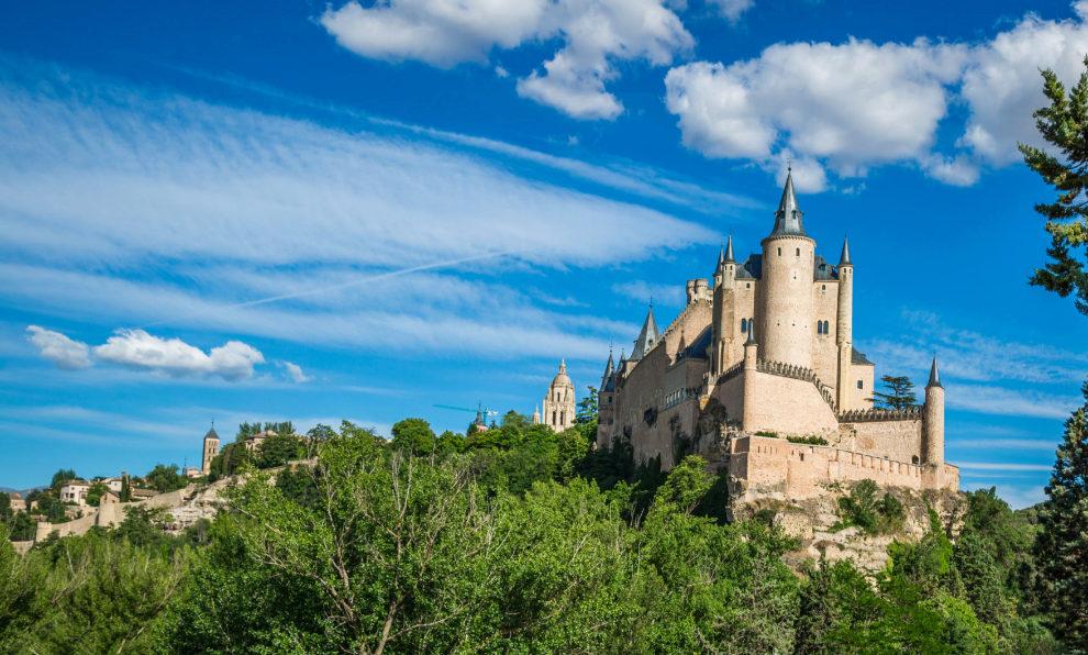 El alcázar de Segovia, uno de los atractivos arquitectónicos de la...