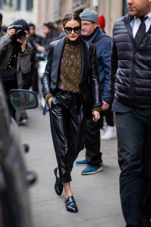 Olivia Palermo en la Fashion Week de París .