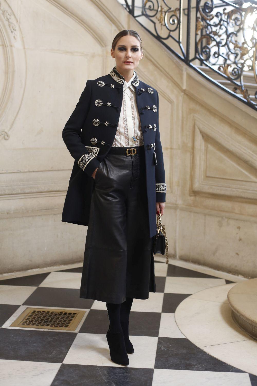 Olivia Palermo en el desfile de Dior.