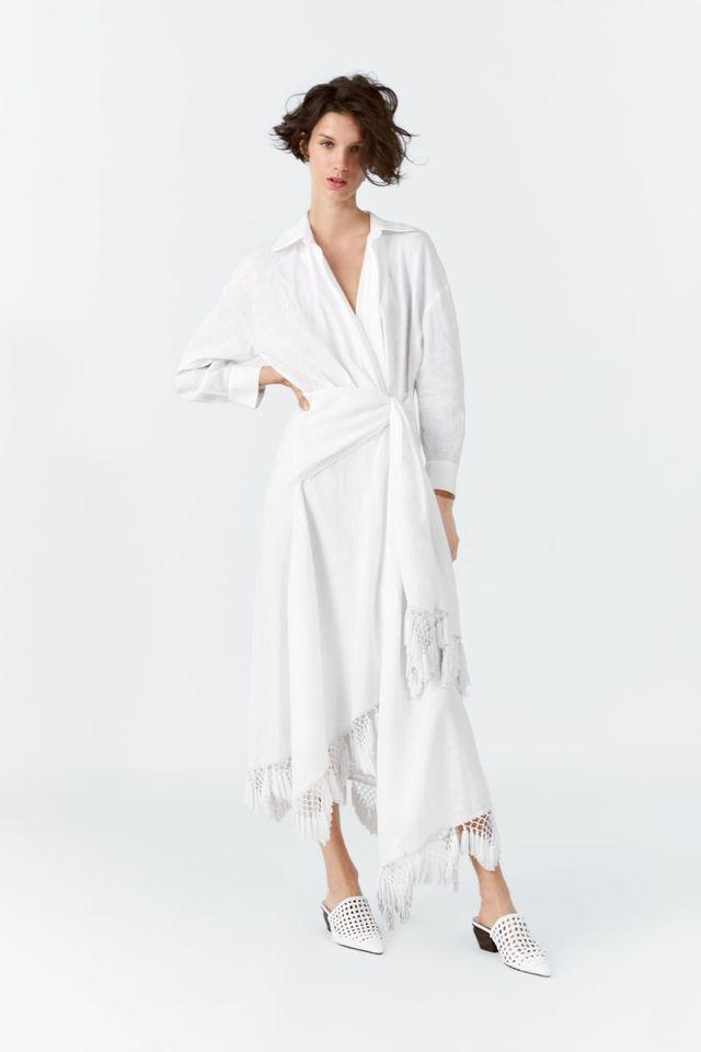 5fc96db9545 Vestido pareo blanco