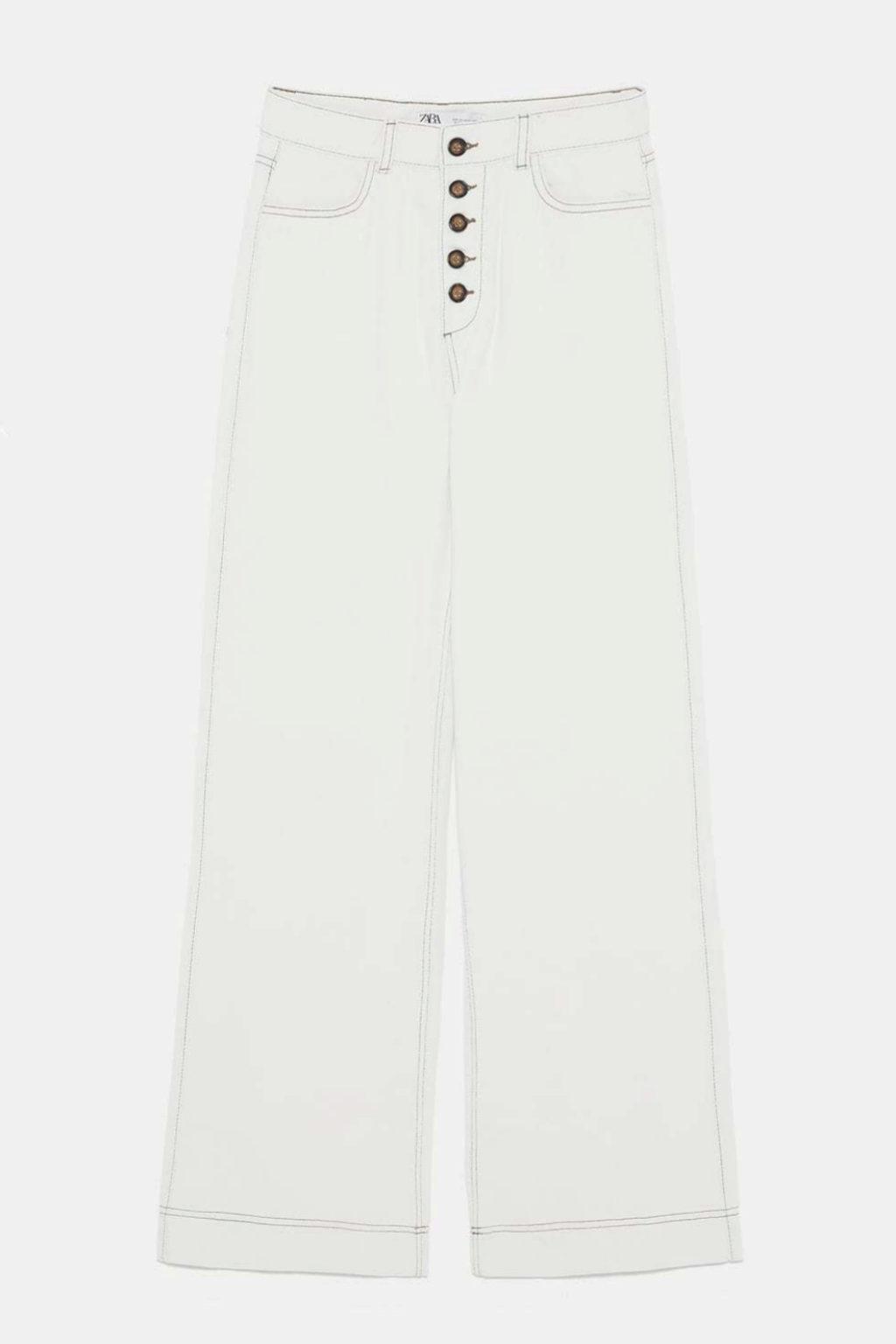 jeans blanco zara