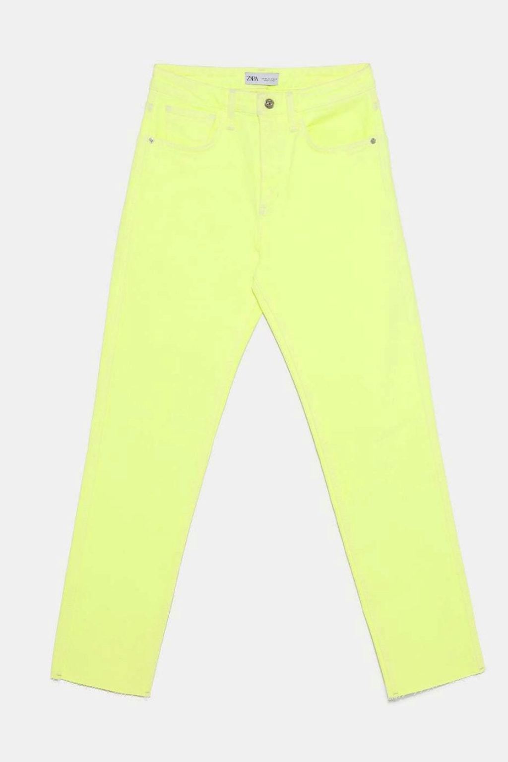 jeans fluor zara
