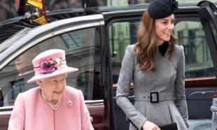 La reina Isabel II y Kate Middleton.