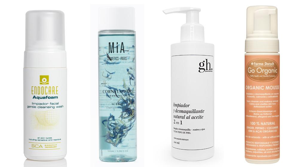 Aquafoam de Endocare; Aceite limpiador con aciano, de Mia Cosmetics;...