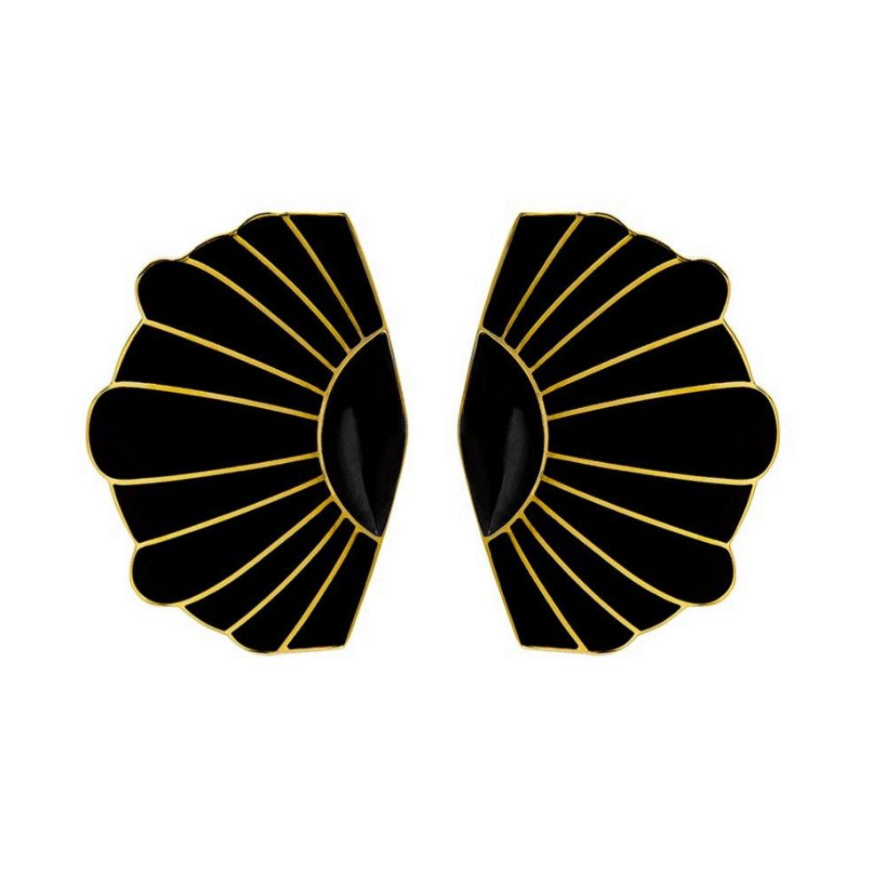 Pendientes XL de onyx de Mónica Sordo para Vasquiat