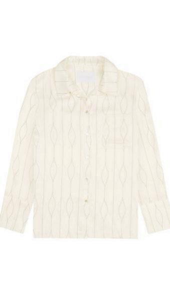 Camisa de seda de pijama de Asceno