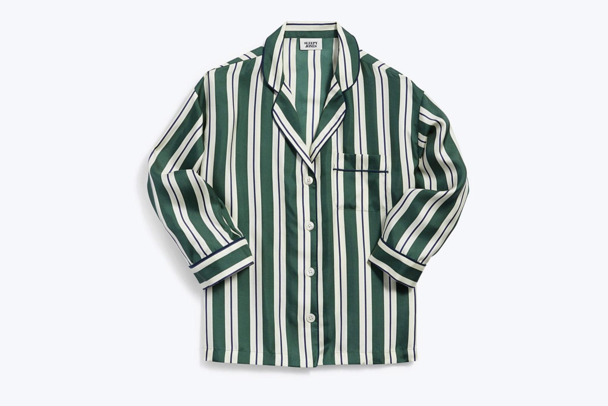 Camisa de seda de rayas de Sleepy Jones