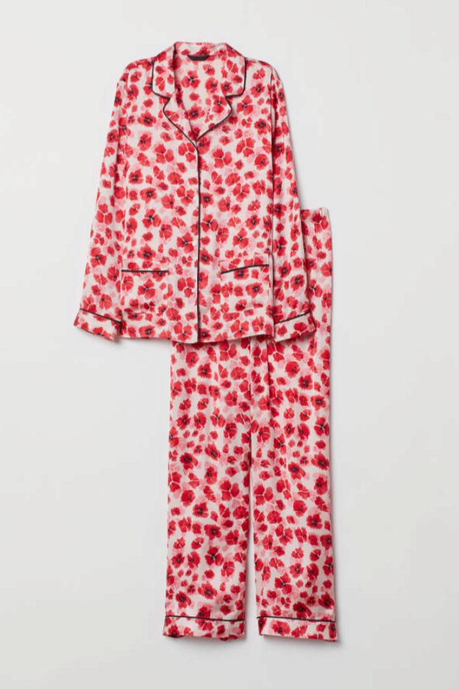 Pijama de estampado floral de H&M