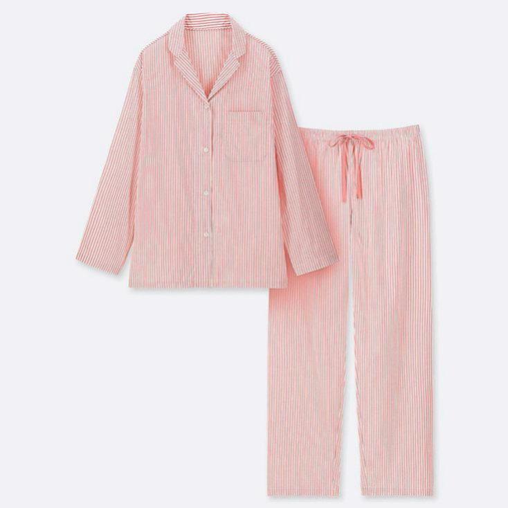Pijama de rayas de estilo masculino de Uniqlo