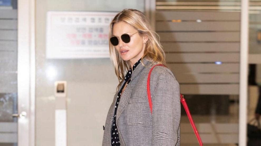 Kate Moss en su llegada a Seúl