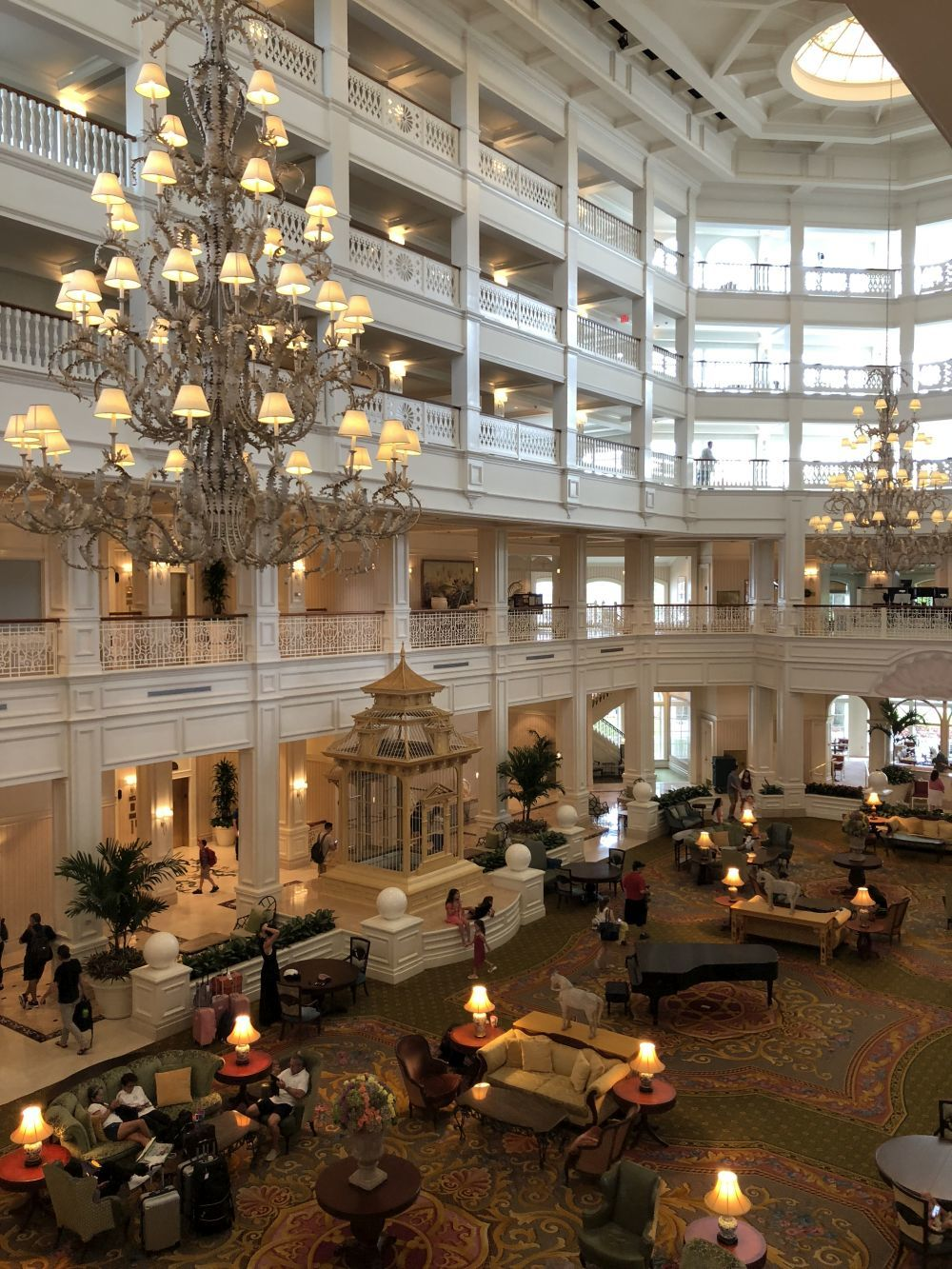 El hall del Grand Floridian Cafe.
