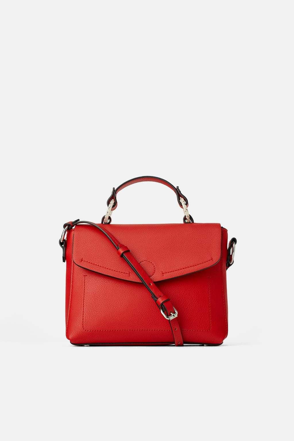 Bolso rojo de Zara