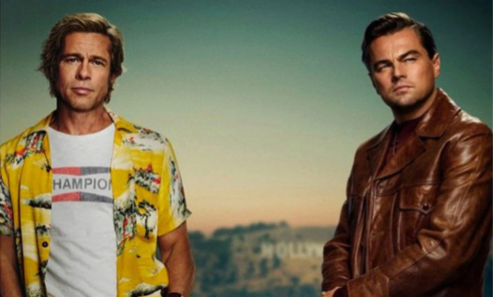 "Parte del póster oficial de ""Once upon a time in Hollywood"""
