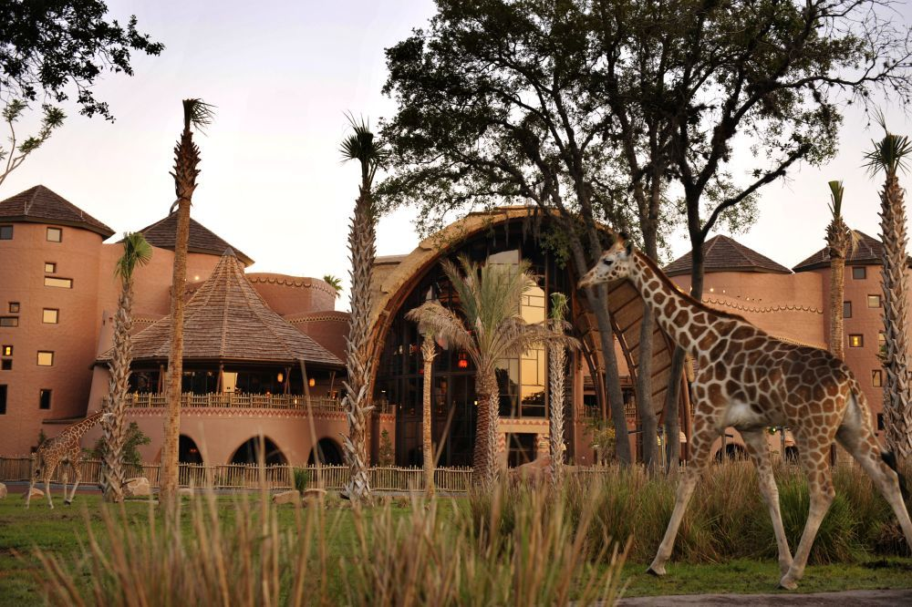 El hall del Hotel Disney's Animal Kingdom Lodge.
