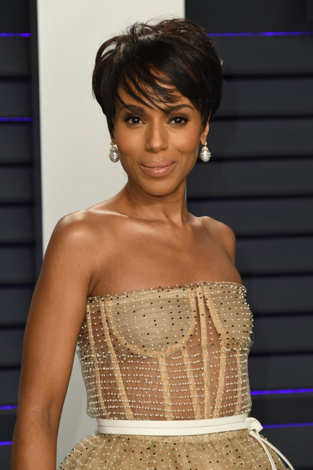 La actriz Kerry Washington con su corte pixie con flequillo lateral...