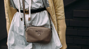 cinturón de Gucci en la semana de la moda de Milán