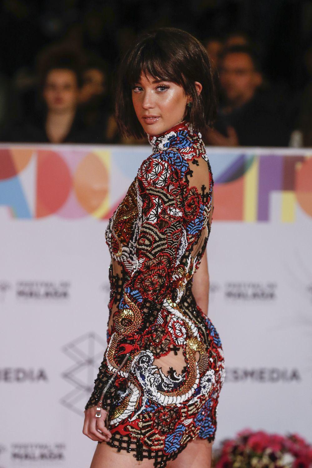 María Pedraza en la alfombra roja del Festival de Cine de Málaga,...